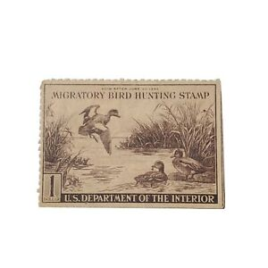 Vintage-Federal-Duck-Stamp-1942-RW9-US-Department-Of-The-Interior-Migratory-Bird