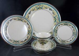 Lenox-FAIR-LADY-5-Piece-Place-Setting-Cream-Background-GREAT-CONDITION