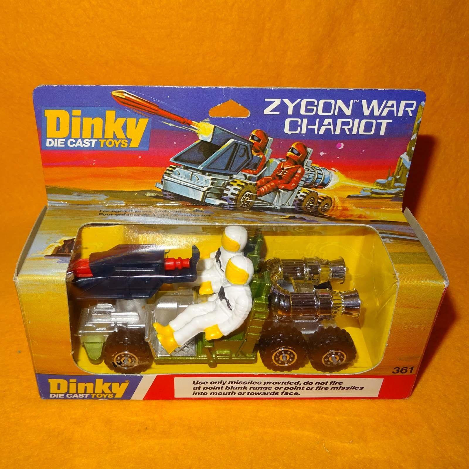 Vintage 1979 Dinky Toys 361 zygon Guerra Carro Die Cast vehículo Espacial En Caja