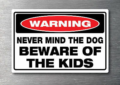 Beware of Dog sticker water /& fade proof safety oh/&s 7 year vinyl dog warning