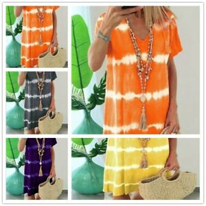 Summer-dresses-for-women-Loose-Midi-Beach-Casual-V-Neck-Ladies-Plus-Size-Boho