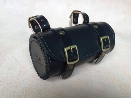 Genuine Leather Bicycle Saddle Bag,Tool Bag,Vintage,Brooks,Brompton Black