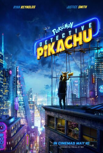 POKEMON DETECTIVE PIKACHU POSTER A4 A3 A2 A1 CINEMA MOVIE LARGE FORMAT