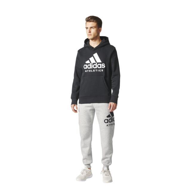 a9e9094bea899 adidas Men's Tracksuit Bottoms Sports ID Branded Tapered Pant Fleece ...