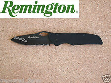Remington Bandit Knife Tactical Folder Black Titanium 18859 Made in US Vintage