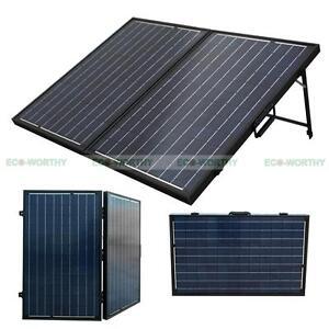 120w 12v Folding Solar Panel Complete Poly Kit For Rv Boat
