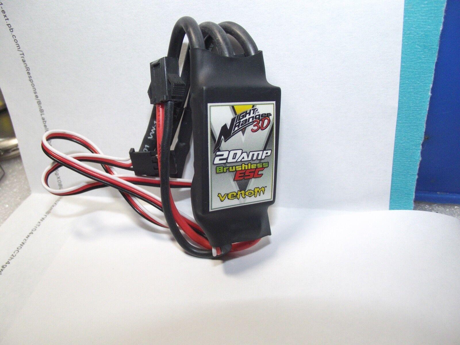 Venom -VENF-7749 -VNR3D 20 Amp Brushless Esc Night Ranger 3D