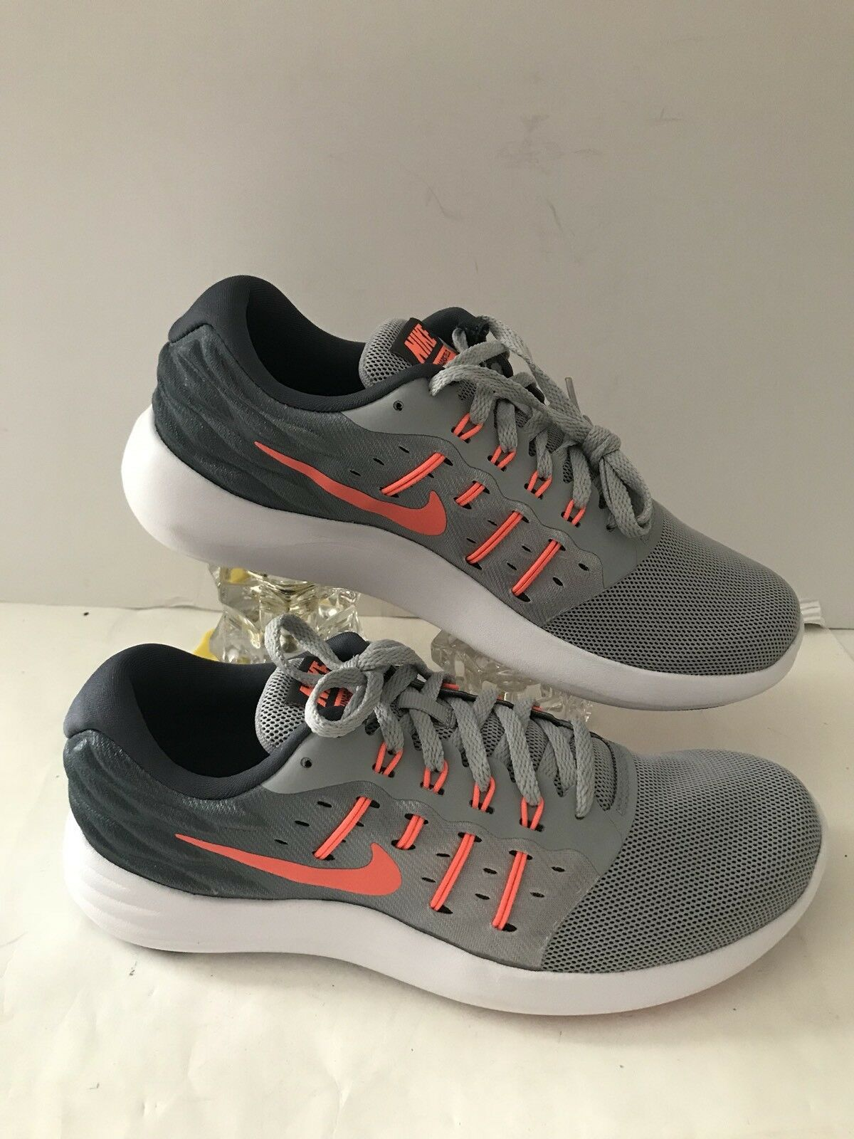 Nike Women's Lunarstelos Grey Plastic/Mesh Running Shoes 8447336 003 Multi Sizes
