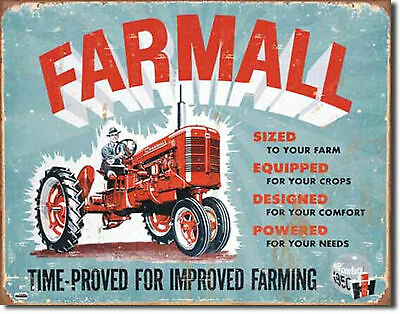 Farmall Model A Tractor IH International Metal Sign Tin New Vintage Style #1620
