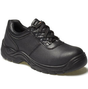 MENS-DICKIES-CLIFTON-SAFETY-WORK-SHOES-SIZE-UK-3-14-BLACK-LEATHER-FA13310