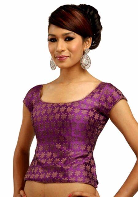 Traditional Choli sari Blouse Indian Tunic Shirt Bollywood Top Belly Dance choli