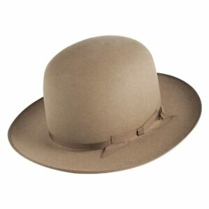 Image is loading Akubra-Campdraft-Open-Crown-Hat-Taupe a1c5a56e985