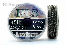 10x Leadcore Leader TASKA iCore Weedy Green mit zwei Schlaufen 45lb ca.75cm TOP!