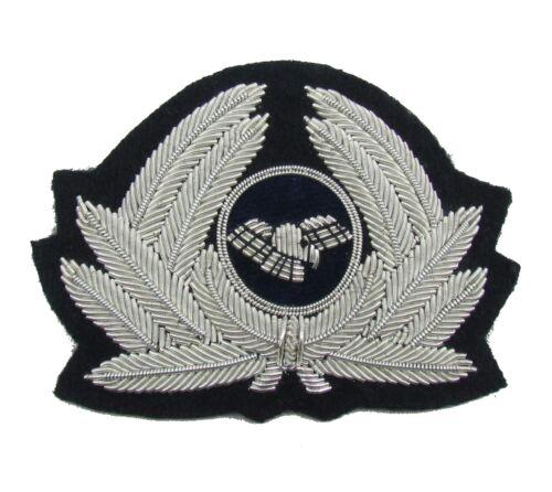 Pilot Abzeichen für Kappe Generische Fluglinie Silber R1794