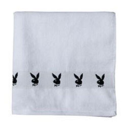 Playboy Classic Duschtuch bunny blanc nouveau 70 cm x 140 cm 402632