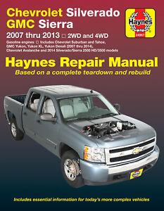 Chevrolet & GMC Pick-ups Petrol 2007-2013 Repair Manual
