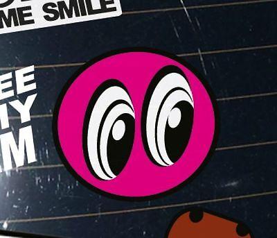 DUB STYLE AUTO TUNING AUFKLEBER - AUGEN SMILEY FUN STYLE SCENE STICKER IN PINK
