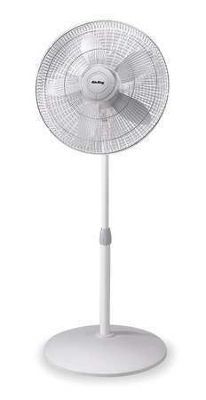 "Oscillating White AIR KING 9119 18/"" Pedestal Fan 120VAC 3 Speeds"