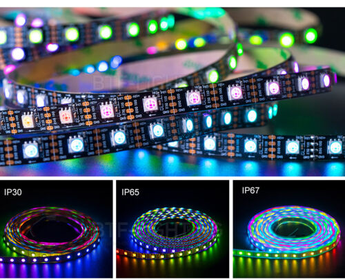 5M BTF2815 RGB LED Strip WS2812B//WS2813 1809 IC Double Signal 12V Addressable