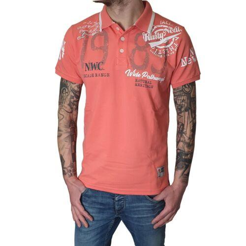 "Rusty neal-caballeros camiseta polo r-15222 /""Wide pathways/"" coral rotorange"