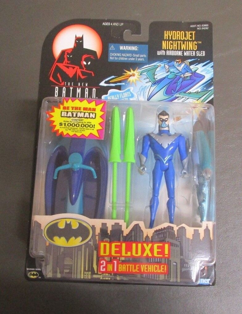 Hydrojet Nightwing 1998 THE NEW BATMAN ADVENTURES Kenner MOC Deluxe