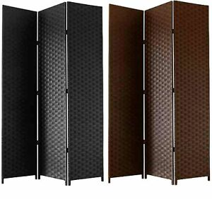 Free standing folding woven paper screen 3 section for Free standing screen