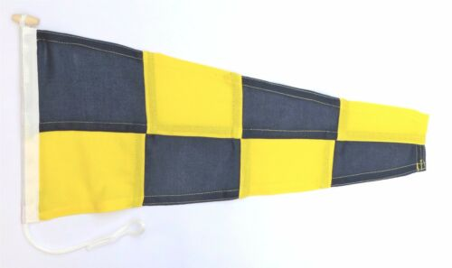 Sewn NATO Signal Flag Negative Pennant Made In The UK
