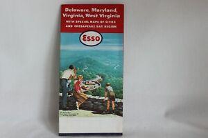 Vintage-Esso-Road-Map-Delaware-Maryland-Virginia-West-Virginia-1959