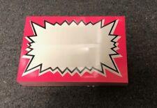 200 Retail Store Pink Dayglo Starburst Price Display Case Shelf Signs Tags