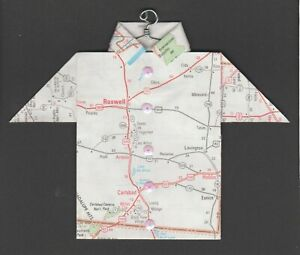 Origami-Map-Shirt-Roswell-Carlsbad-Carlsbad-Caverns-Nat-039-l-Park-Hobbs-Artesia
