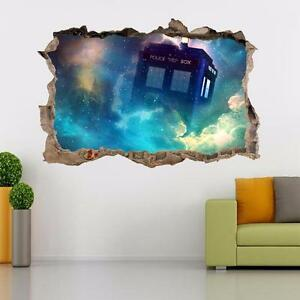 Image Is Loading Tardis Dr Who Smashed Wall Decal Removable Graphic  Part 40