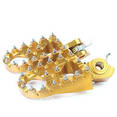 Gold Foot Pegs Footrests WIDE FAT Anodized Fit Suzuki RM-Z250 RMZ 250 2005-2006
