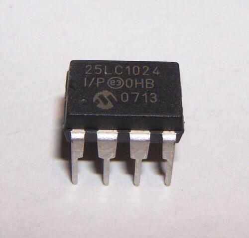 dip 8-neuf-vendeur britannique 128K x 8 1024K 24LC1025 i//p-eeprom MICROCHIP