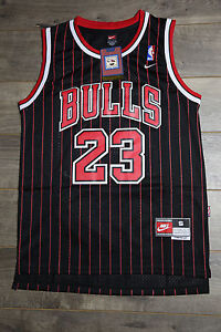 promo code cd9e5 cec7b Details about Michael Jordan Jersey #23 Chicago Bulls Classics Swingman  Retro Black Stripe