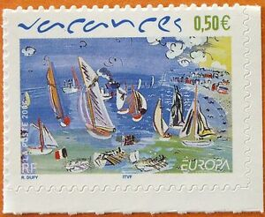 Frugal Stamp / Timbre France Neuf N° 3672 ** Europa / Les Vacances / Issus De Carnet