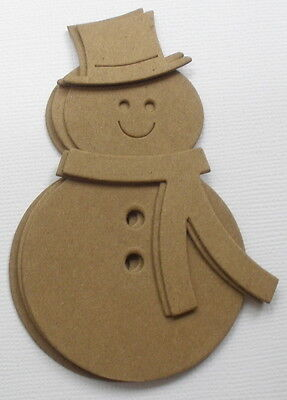 Christmas Raw Bare Unfinished Chipboard Die Cuts 4 PRIMITIVE NOEL TREE