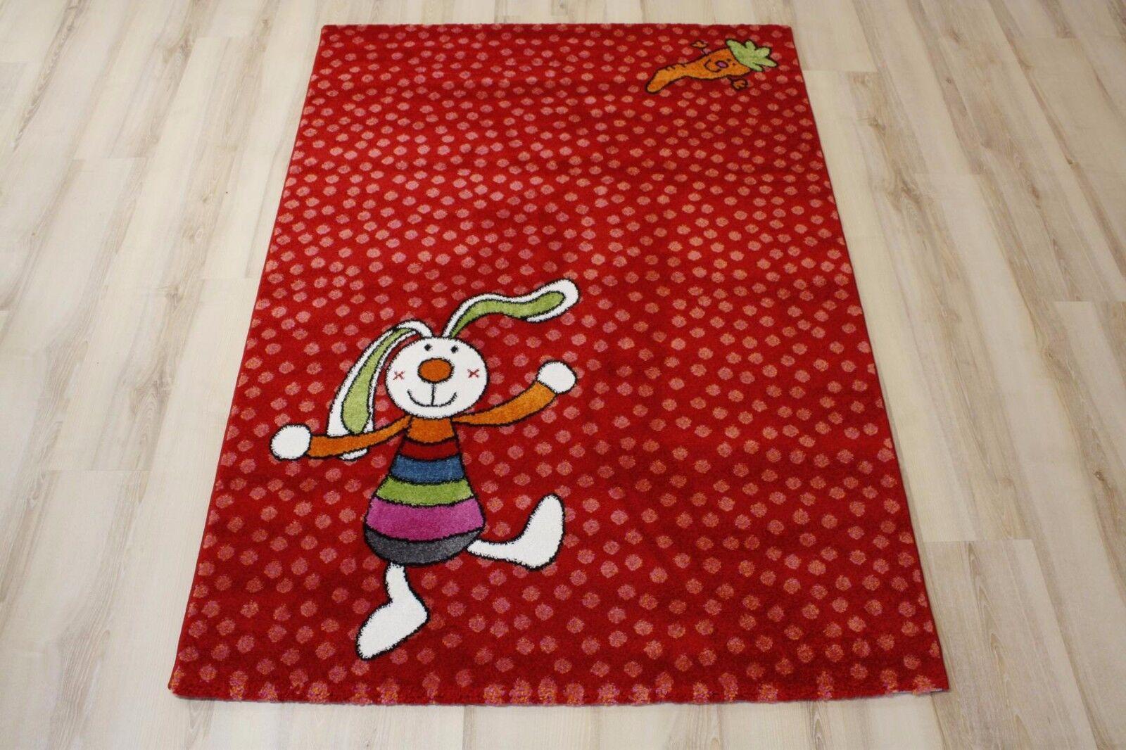 Tapis pour Enfants de Jeu Sigikid Sk-0523-02 Rainbow Lapin 160x225 cm Rouge