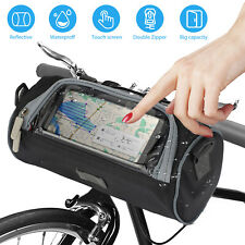 Bike Bicycle Cycling Outdoor Front Basket Pannier Frame Tube Handlebar Bag L Lw