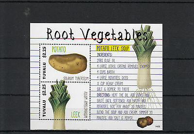 Tuvalu 2014 MNH Root Vegetables 2v S/S II Potato Leek Soup Solanum Tuberosum
