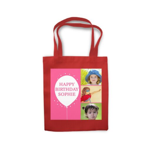 Personalized Name with Photo Sofa Cushion Cover Shopping Tote Bag Canvas Gift