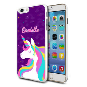 purchase cheap 3fc6a 685aa Details about Unicorn Personalised Case Cover for Apple Samsung Initial  Text Name - 43