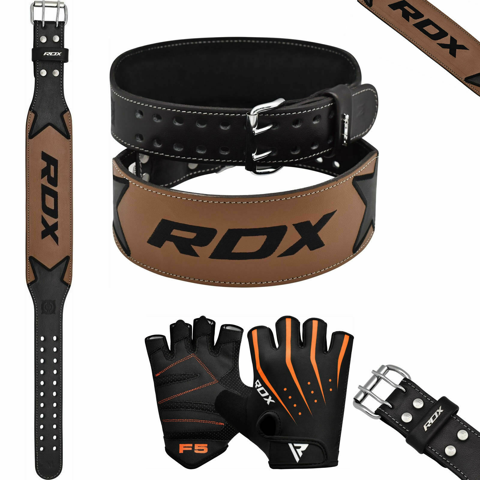 RDX Trainings Gewichthebergürtel & Fitneß Handschuhe Fitness Bodybuilding Gym DE