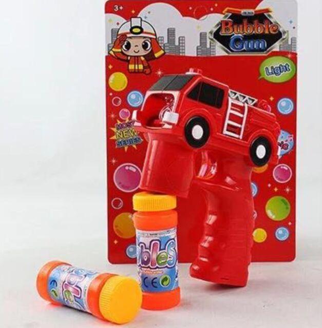 Polizei Auto Seifenblasenpistole LED//Sound Seifenblasen Fire Auto Bubble Gun