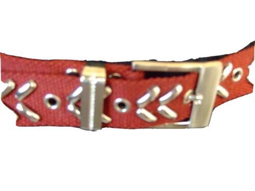 Rot NEU G1-7 Damengürtel Stoff Gürtel mit Nieten Maße 100 cm x 3 cm