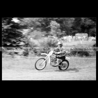 #phm.55941 Photo VIC EASTWOOD 500 CCM 1976 MX MOTO CROSS Motorcycle
