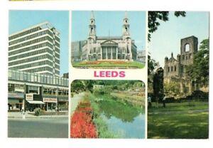 Yorkshire-Leeds-Multiview-Postcard-Franked-1974