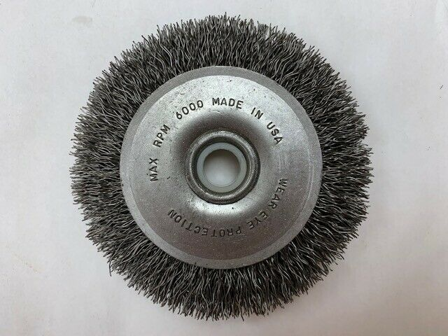 "BRUSH RESEARCH #BDM3 USA 3/"" WIRE WHEEL .0118 WIRE 3//8-1//2/"" HOLE"
