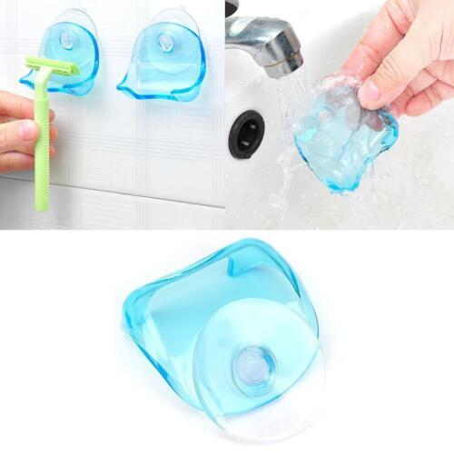 1* Shaver Toothbrush Holder Washroom Wall Sucker Suction Hook Razor Cup Y4V8