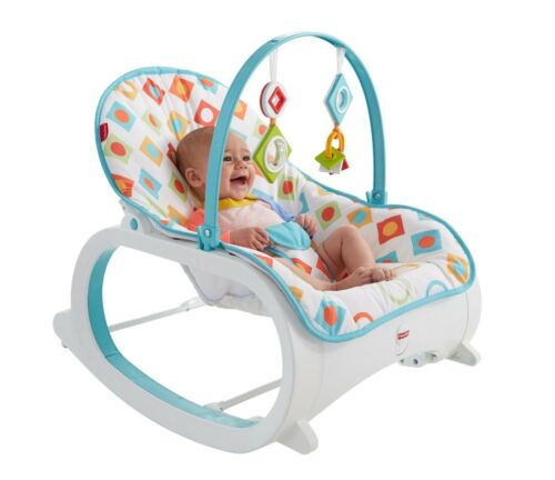 Rocker With Activities Geo Diamonds Fisher Price Infant to Toddler High Quality