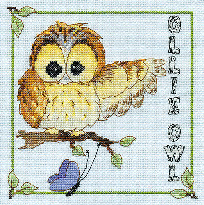 DMC Woodland Folk BL862/65 Ollie Owl Counted Cross Stitch Kit